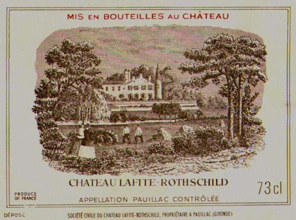 Chateau Lafite Rothschild Pauillac 1975  Front Label