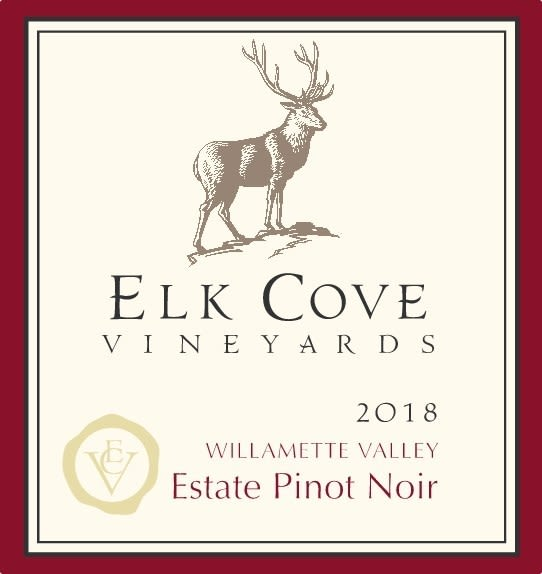 Elk Cove Willamette Valley Pinot Noir 2018  Front Label