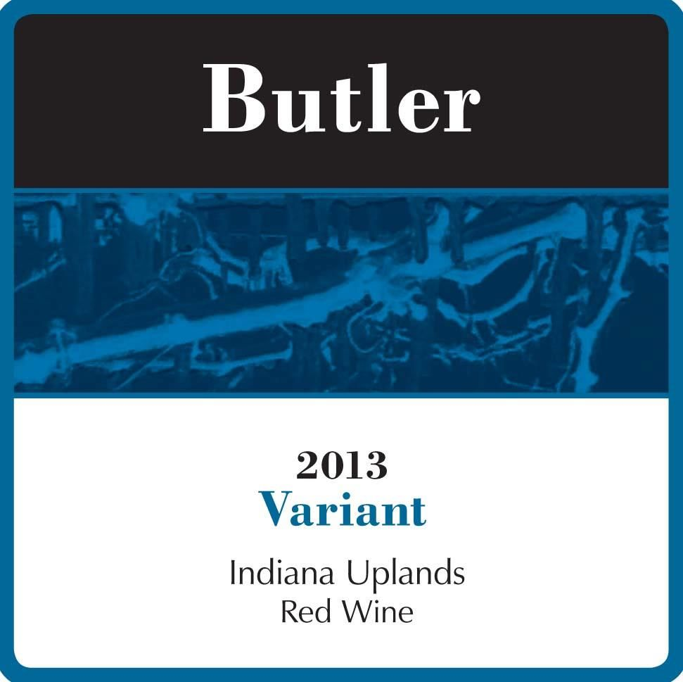 Butler Winery and Vineyards Variant 2013 Front Label