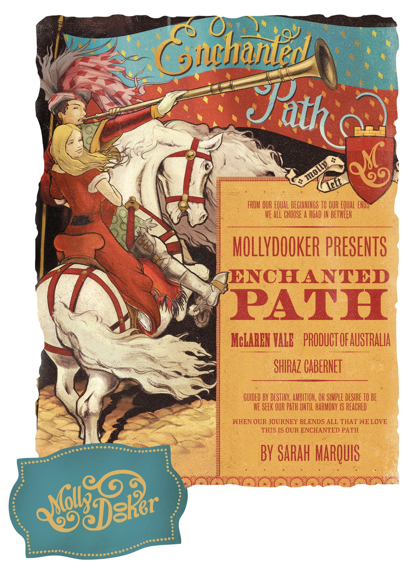 Mollydooker Enchanted Path 2017  Front Label