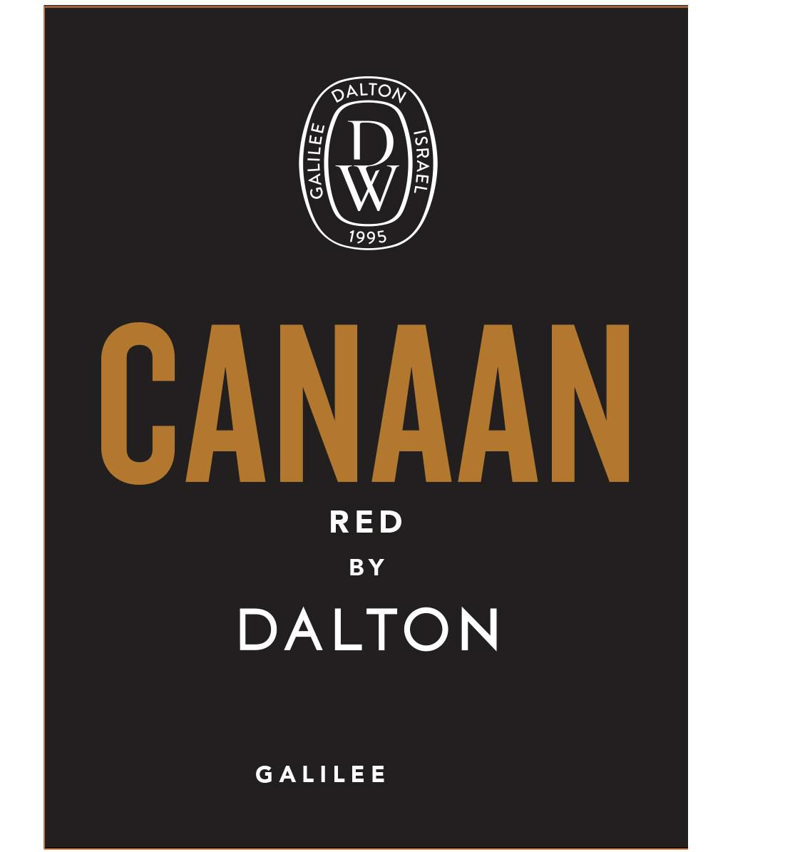 Dalton Estate Canaan Red (OU Kosher) 2018  Front Label