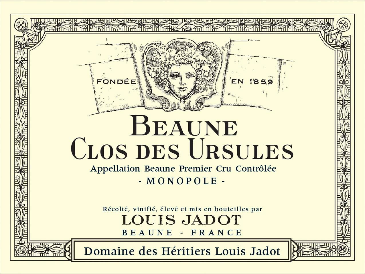 Louis Jadot Beaune Clos des Ursules Premier Cru (375ml half-bottle) 2017  Front Label