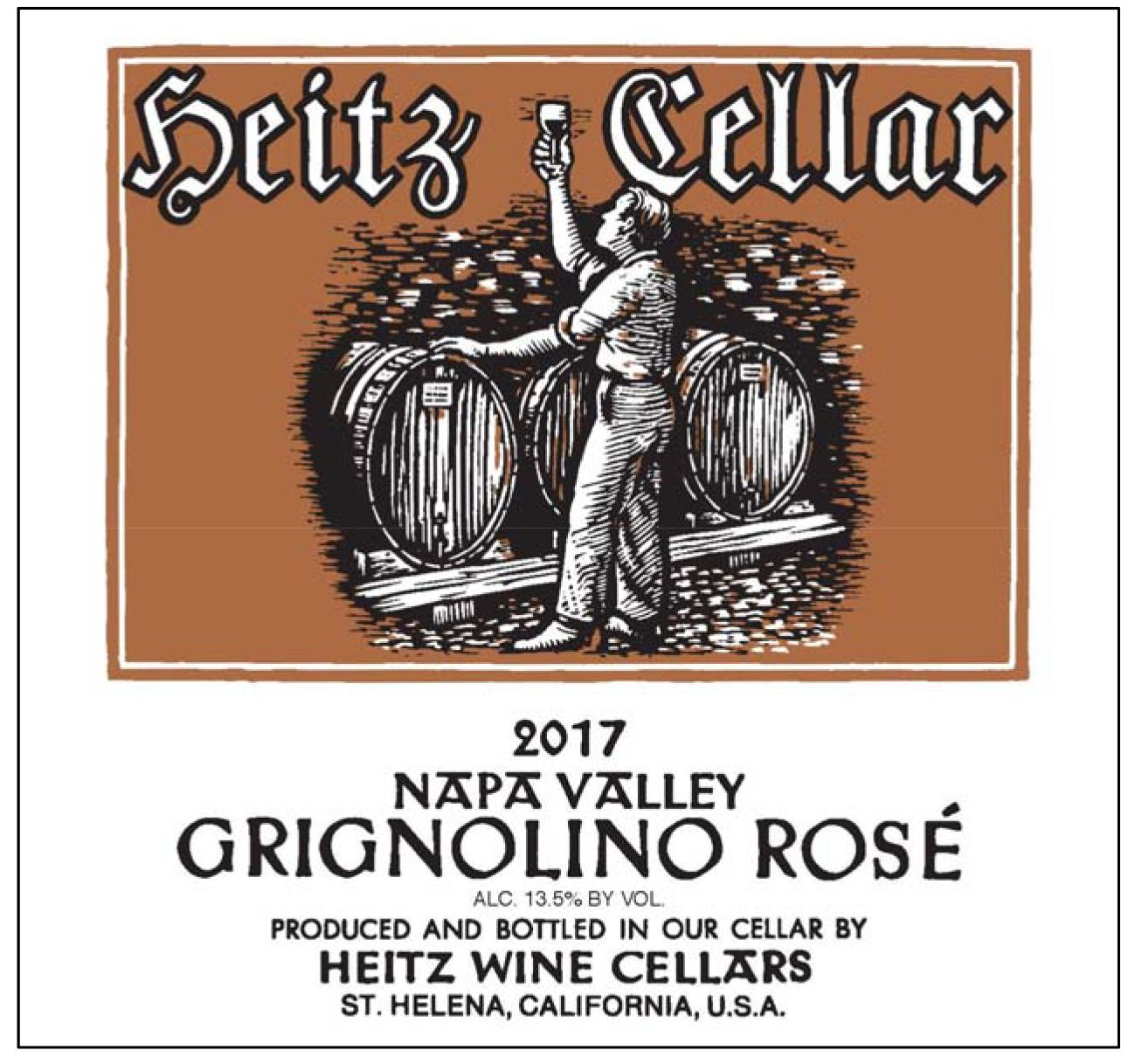 Heitz Cellar Grignolino Rose 2017  Front Label