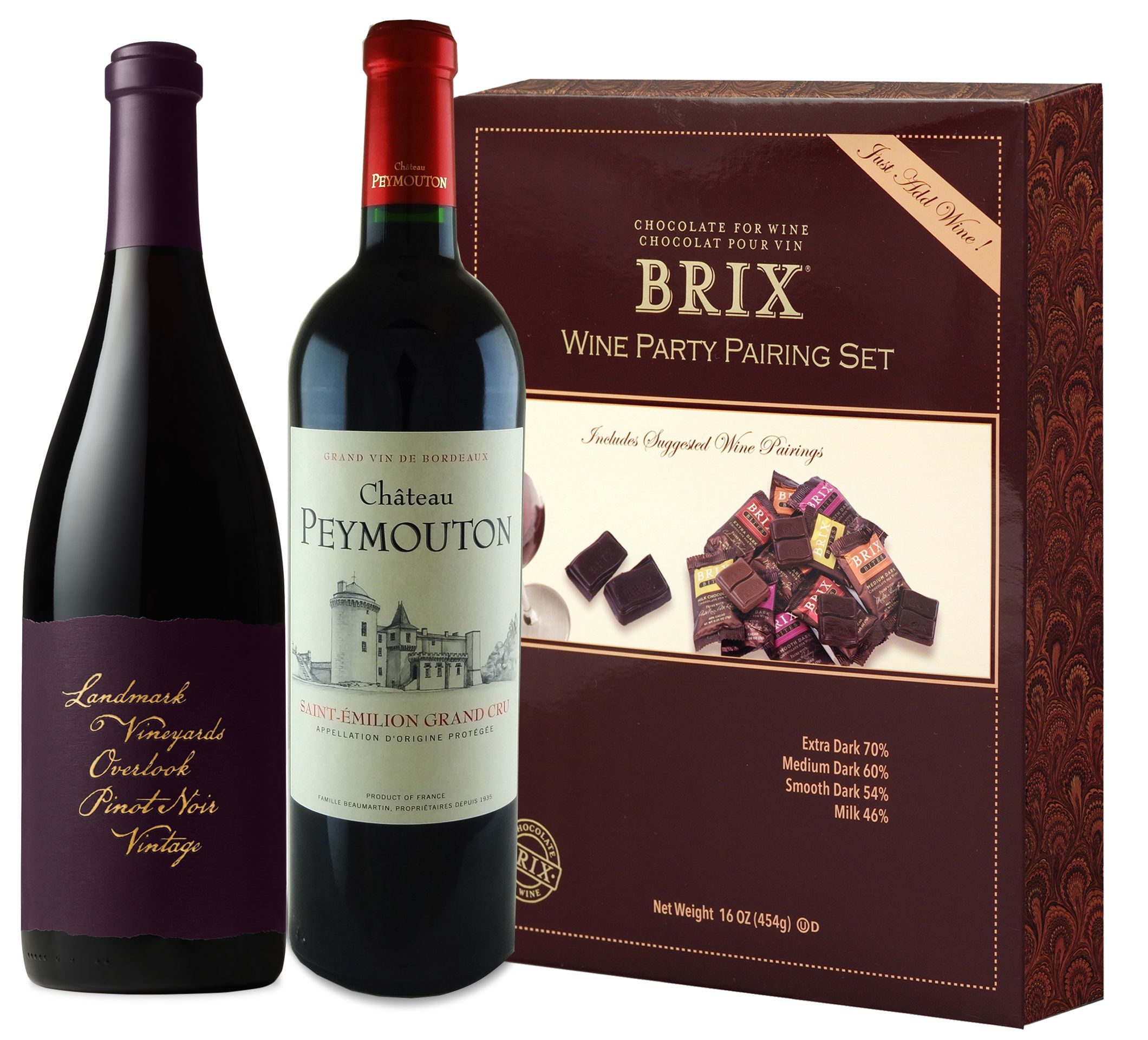 wine.com 90 Point Red Wine & BRIX Chocolate Tasting Set  Gift Product Image