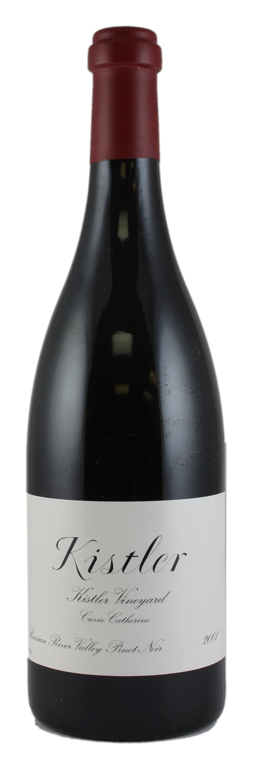 Kistler Vineyards Cuvee Catherine Pinot Noir 2001  Front Bottle Shot