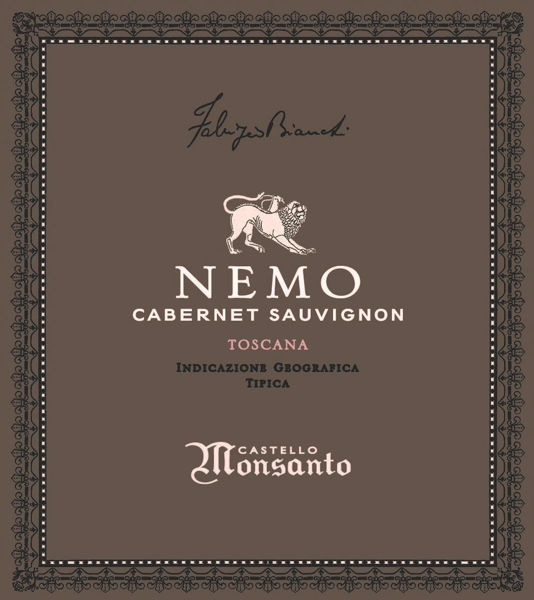 Castello di Monsanto Nemo 2012  Front Label