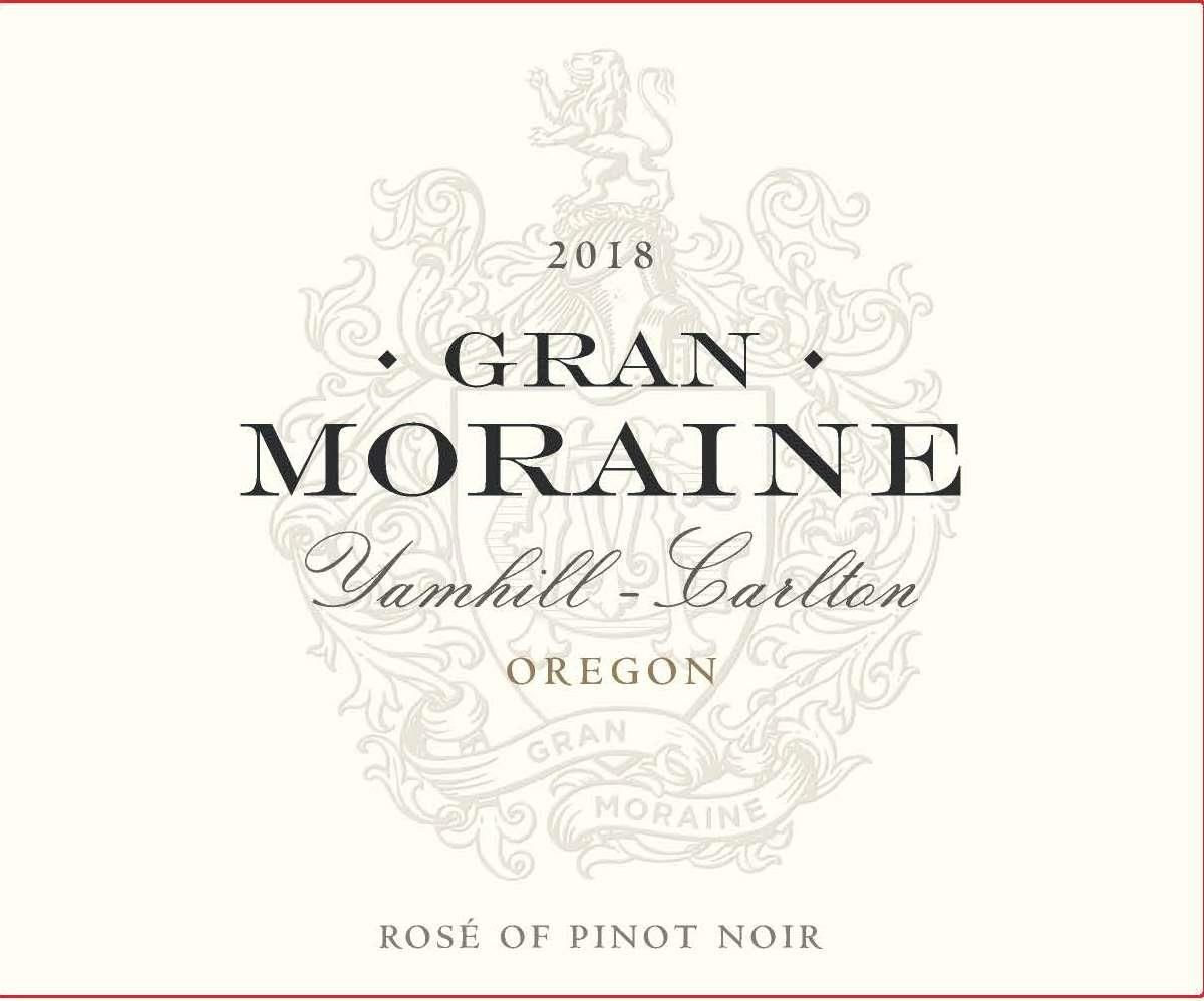 Gran Moraine Rose of Pinot Noir 2018 Front Label