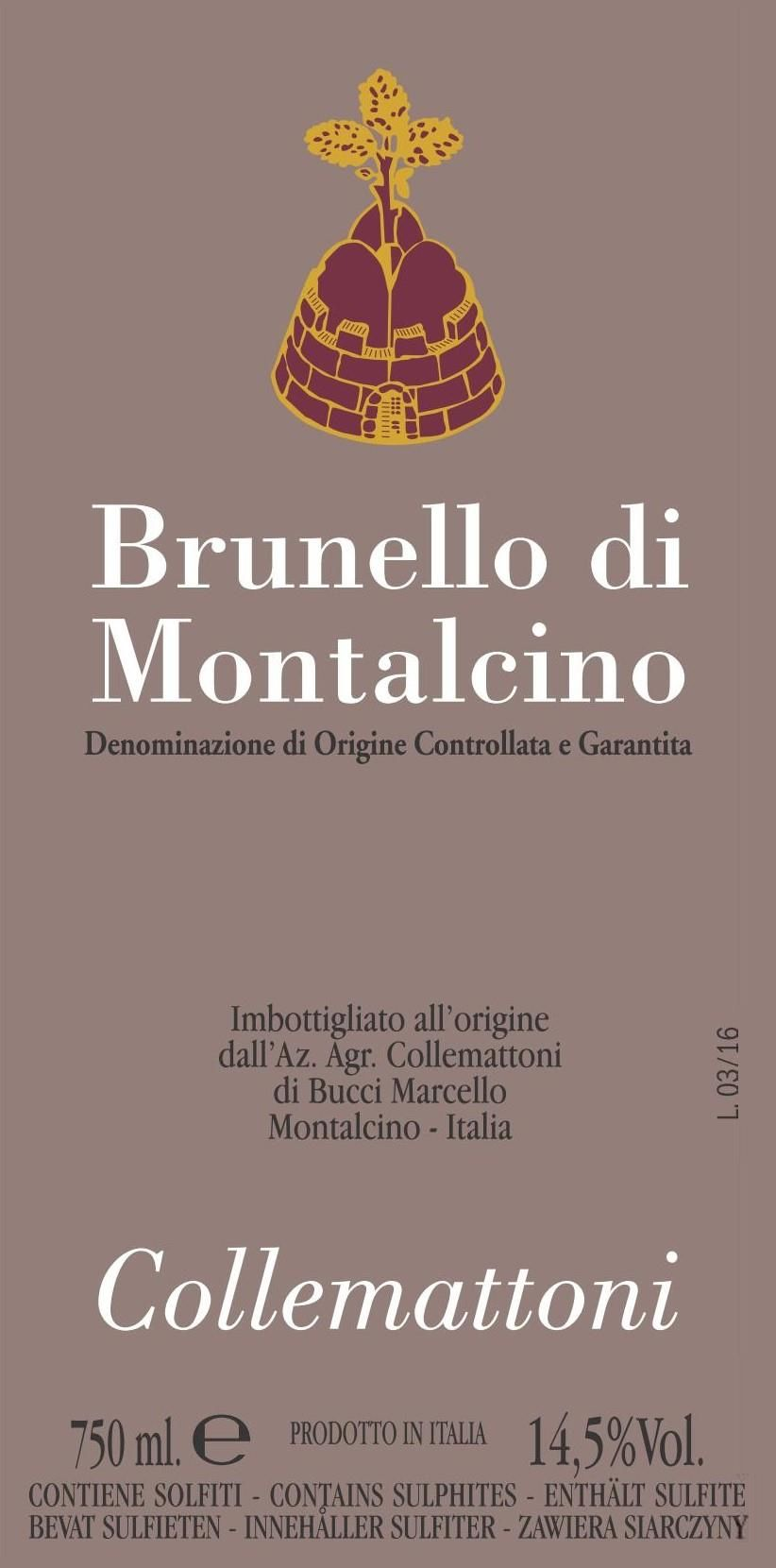 Collemattoni Brunello di Montalcino 2015  Front Label