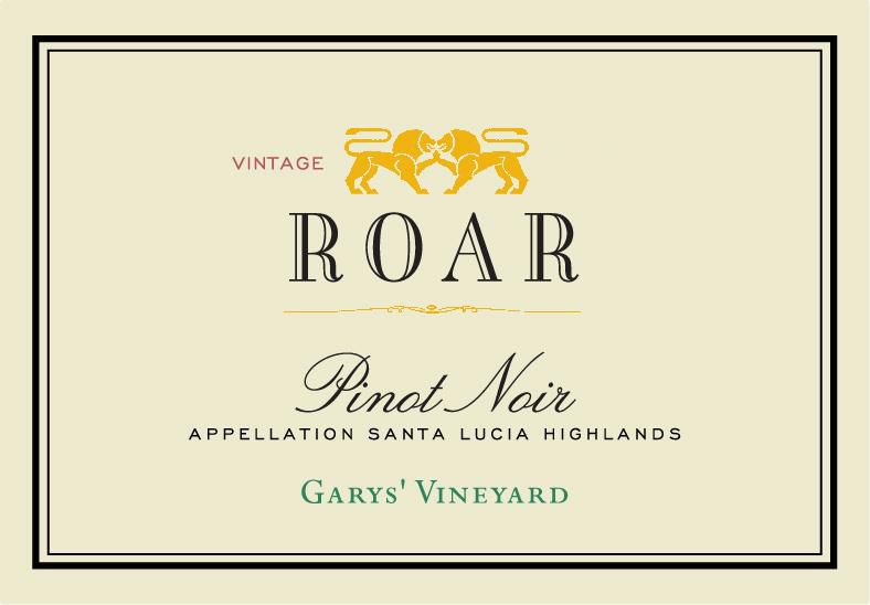 Roar Garys' Vineyard Pinot Noir 2018  Front Label