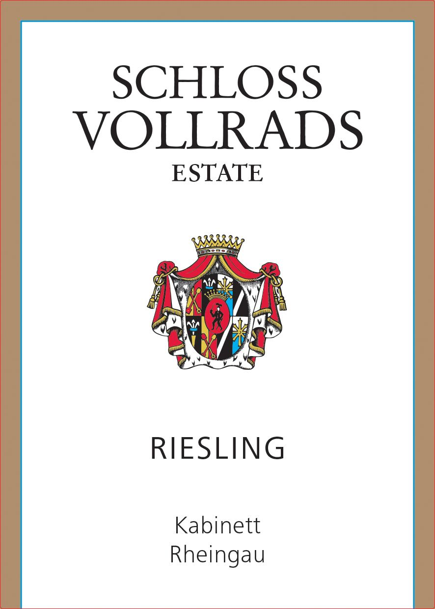 Schloss Vollrads Riesling Kabinett 2018  Front Label
