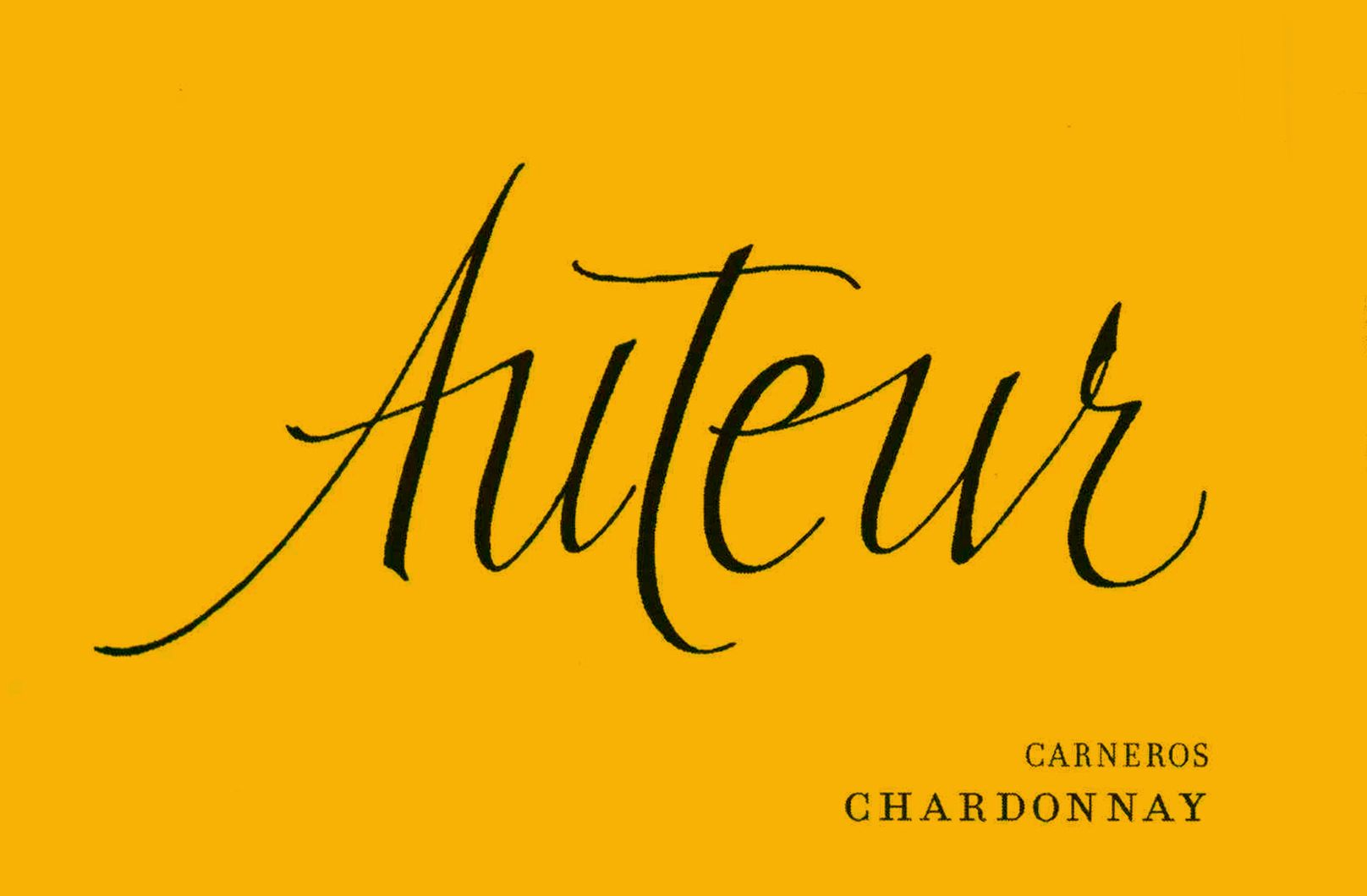 Auteur Hyde Vineyard Chardonnay 2007  Front Label
