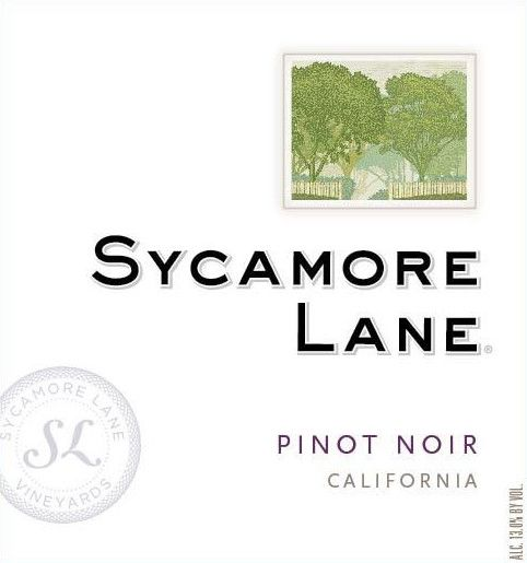 Sycamore Lane Pinot Noir  Front Label