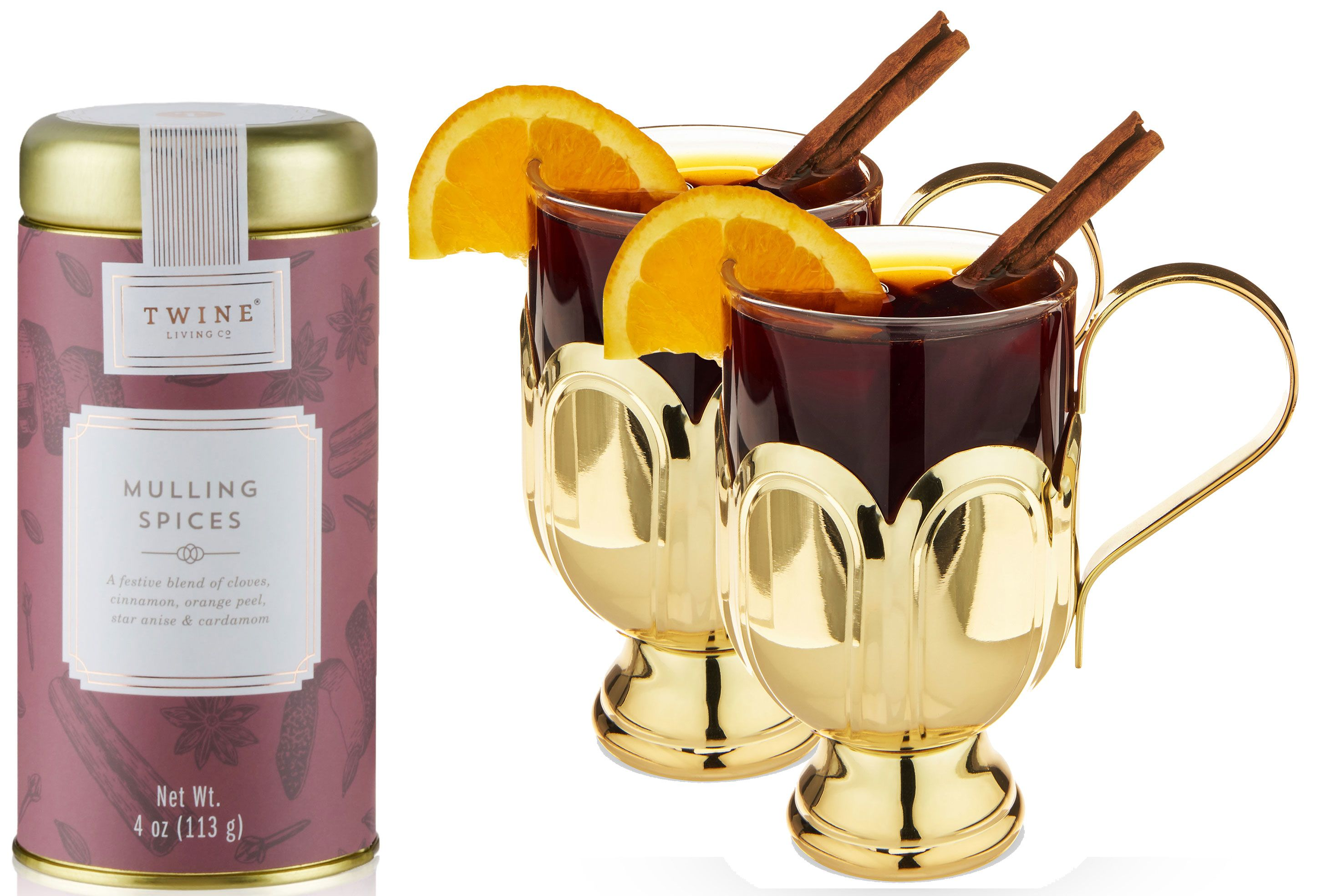 wine.com Mulled Wine Glass Set by Twine (Spices Included)  Gift Product Image