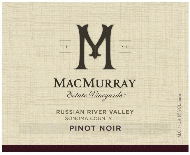 MacMurray Ranch Russian River Pinot Noir 2017  Front Label