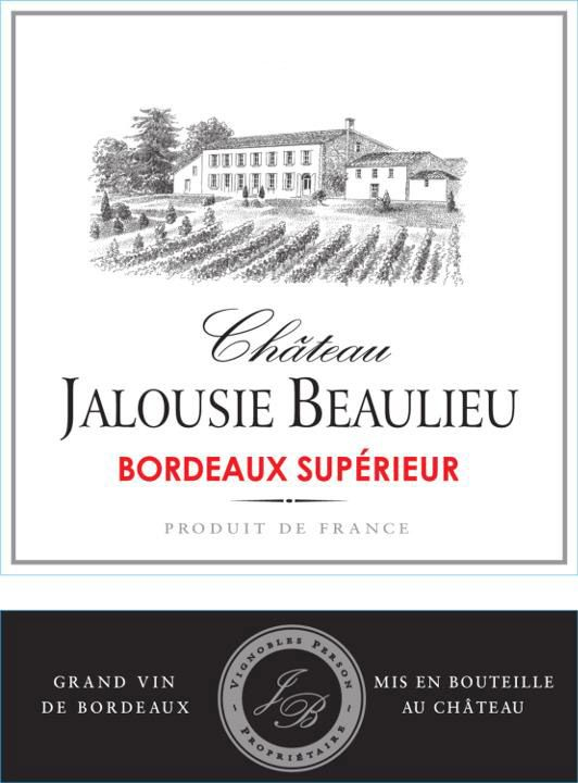 Chateau Jalousie Beaulieu Bordeaux Superieur 2018  Front Label