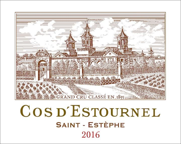 Chateau Cos d'Estournel (3 Liter Bottle) 2016 Front Label