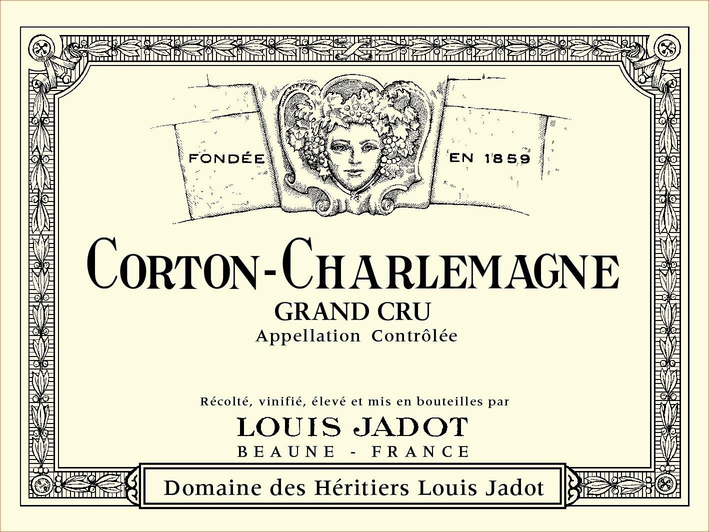 Louis Jadot Corton-Charlemagne Grand Cru (375ML half-bottle) 2017  Front Label