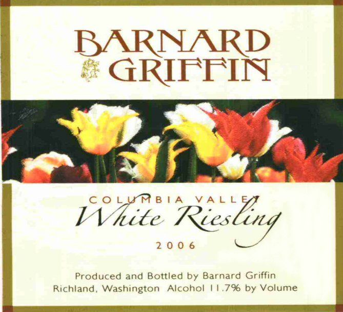 Barnard Griffin Columbia Valley White Riesling 2006  Front Label