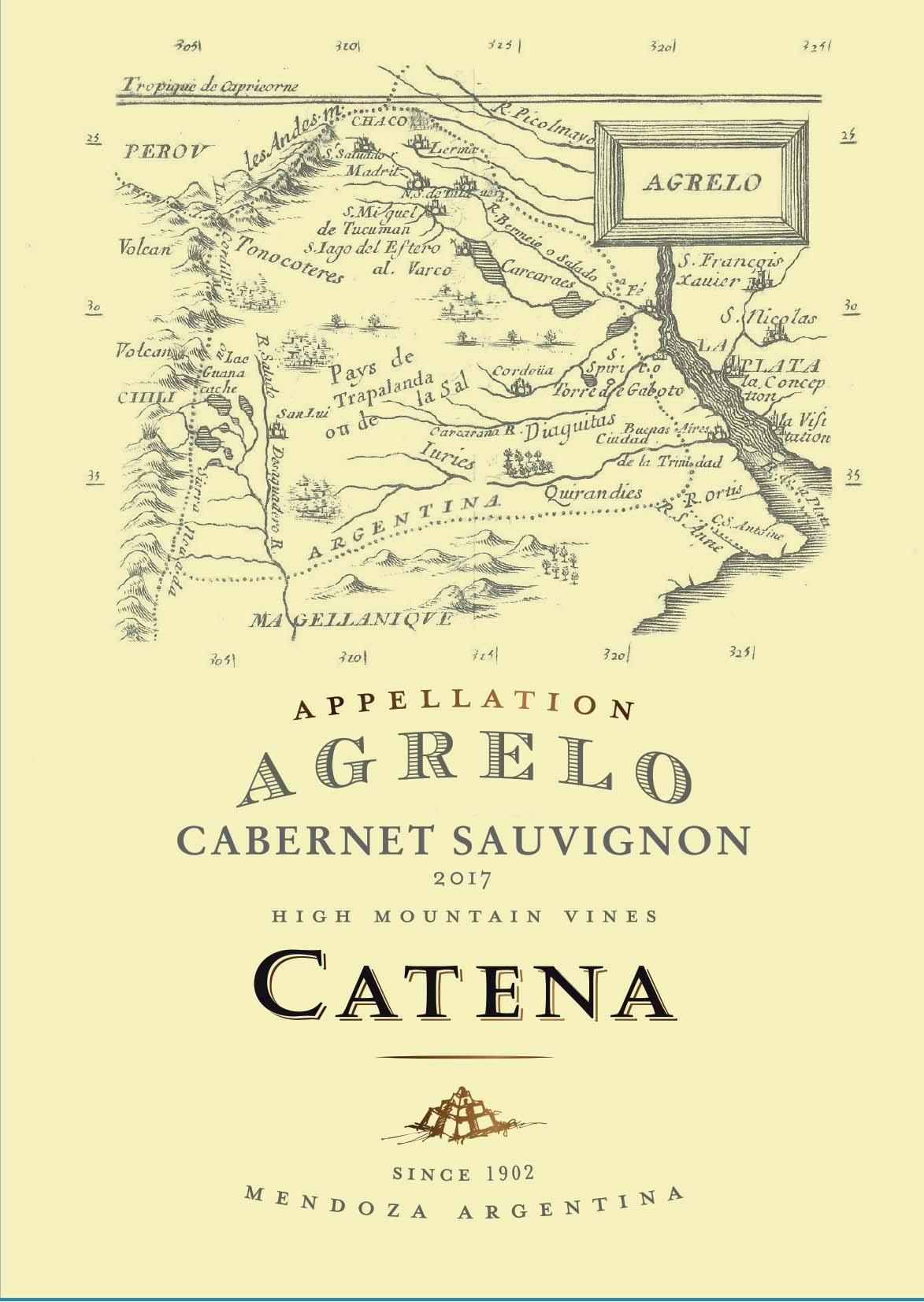 Catena Appellation Agrelo Cabernet Sauvignon 2017  Front Label