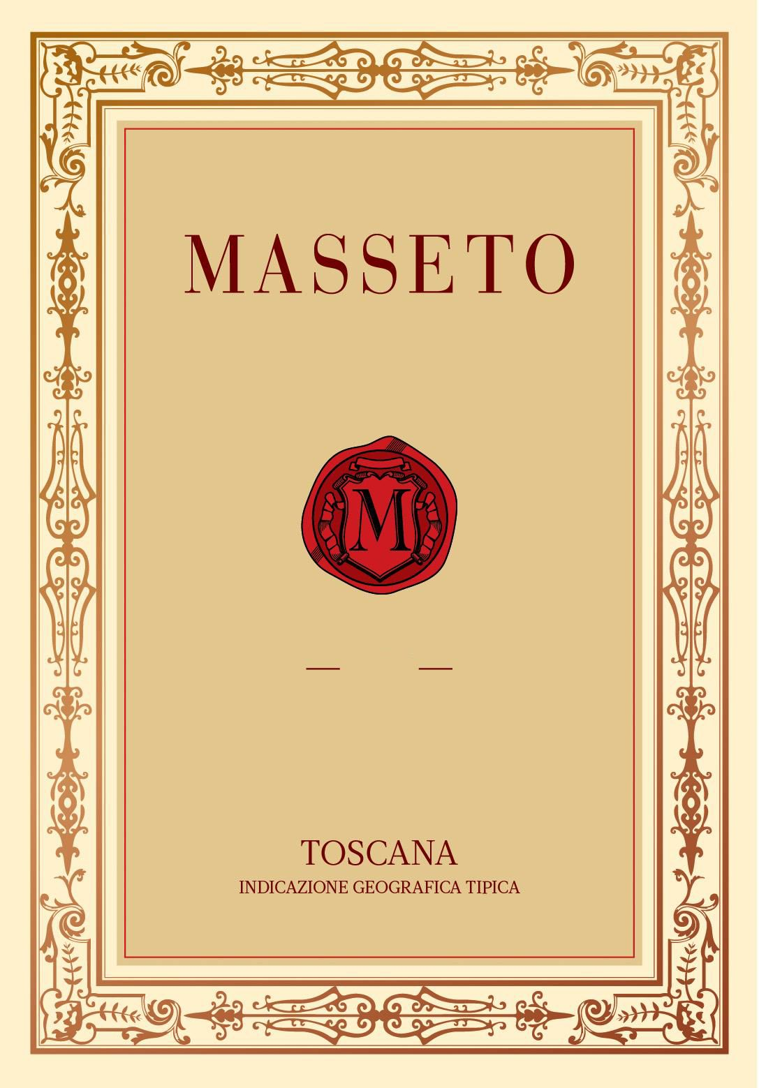 Masseto  2016  Front Label