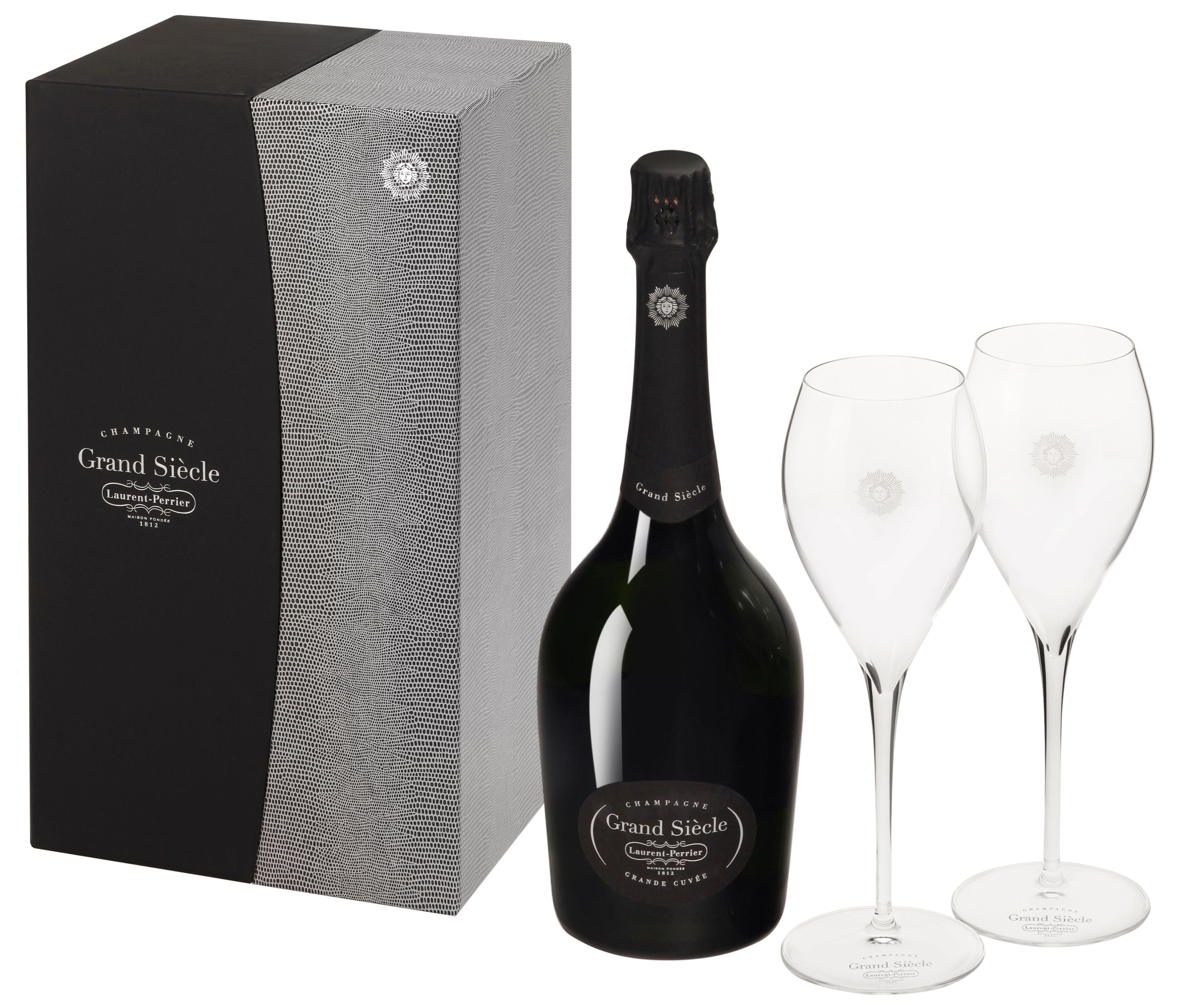 Laurent-Perrier Grand Siecle Coffret with 2 Flutes Gift Product Image