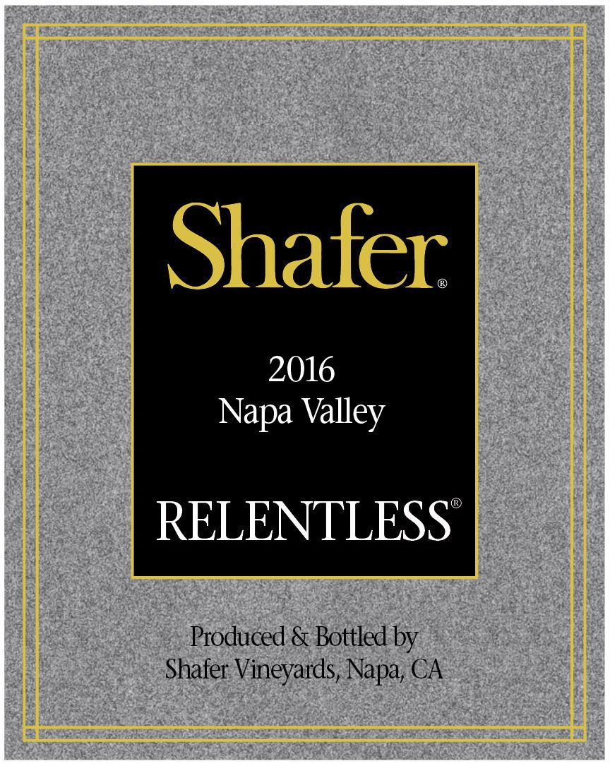 Shafer Relentless 2016  Front Label