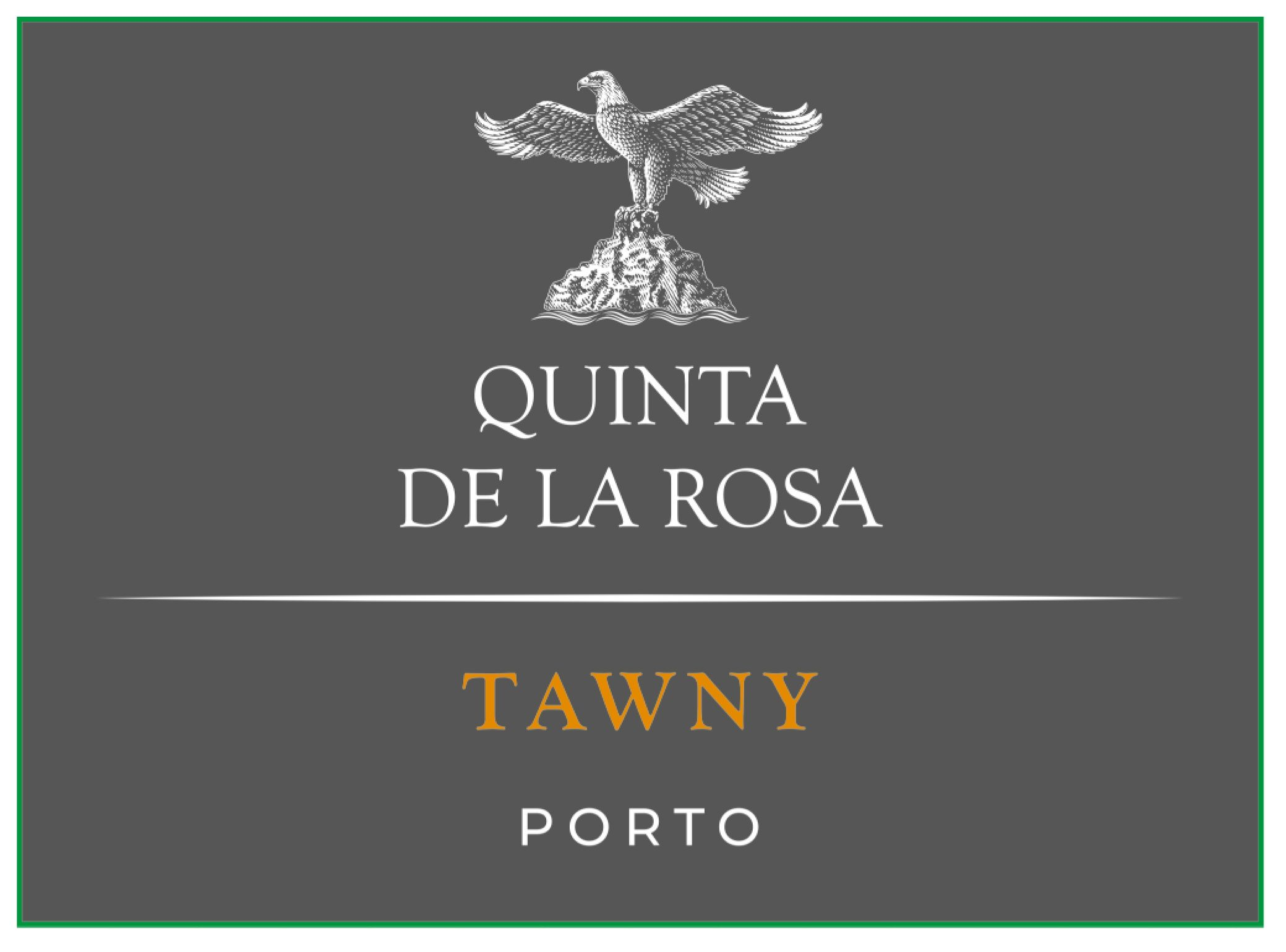 Quinta de la Rosa Tawny Port (500ML bottle)  Front Label