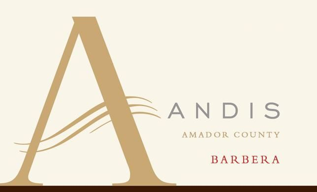 Andis Barbera 2016  Front Label