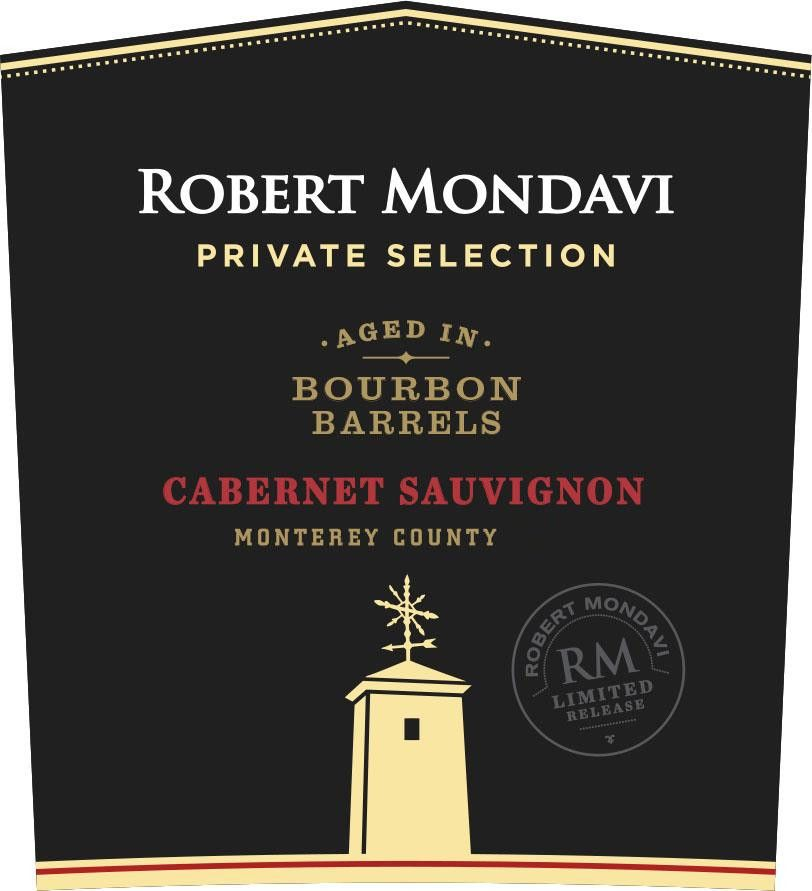 Robert Mondavi Private Selection Bourbon Barrels Cabernet Sauvignon 2018  Front Label