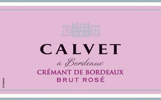 Calvet Cremant de Bordeaux Brut Rose 2017  Front Label