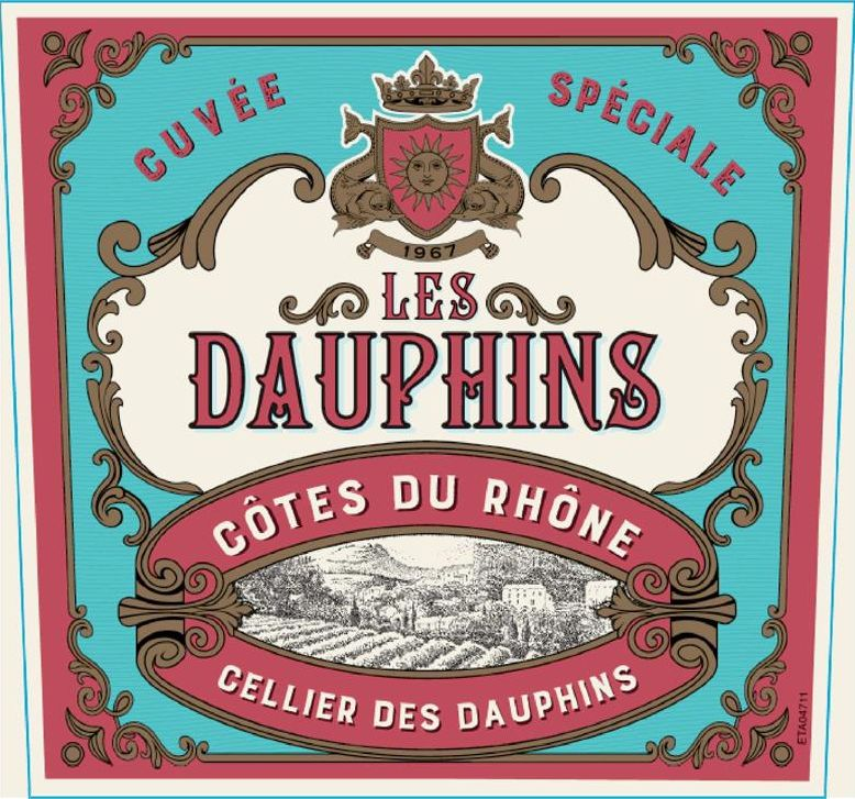 Les Dauphins Cuvee Speciale Rose 2018  Front Label