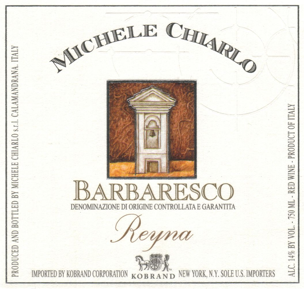 Michele Chiarlo Reyna Barbaresco 2016  Front Label