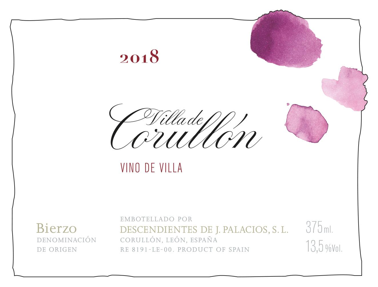Descendientes de Jose Palacios Corullon 2018  Front Label