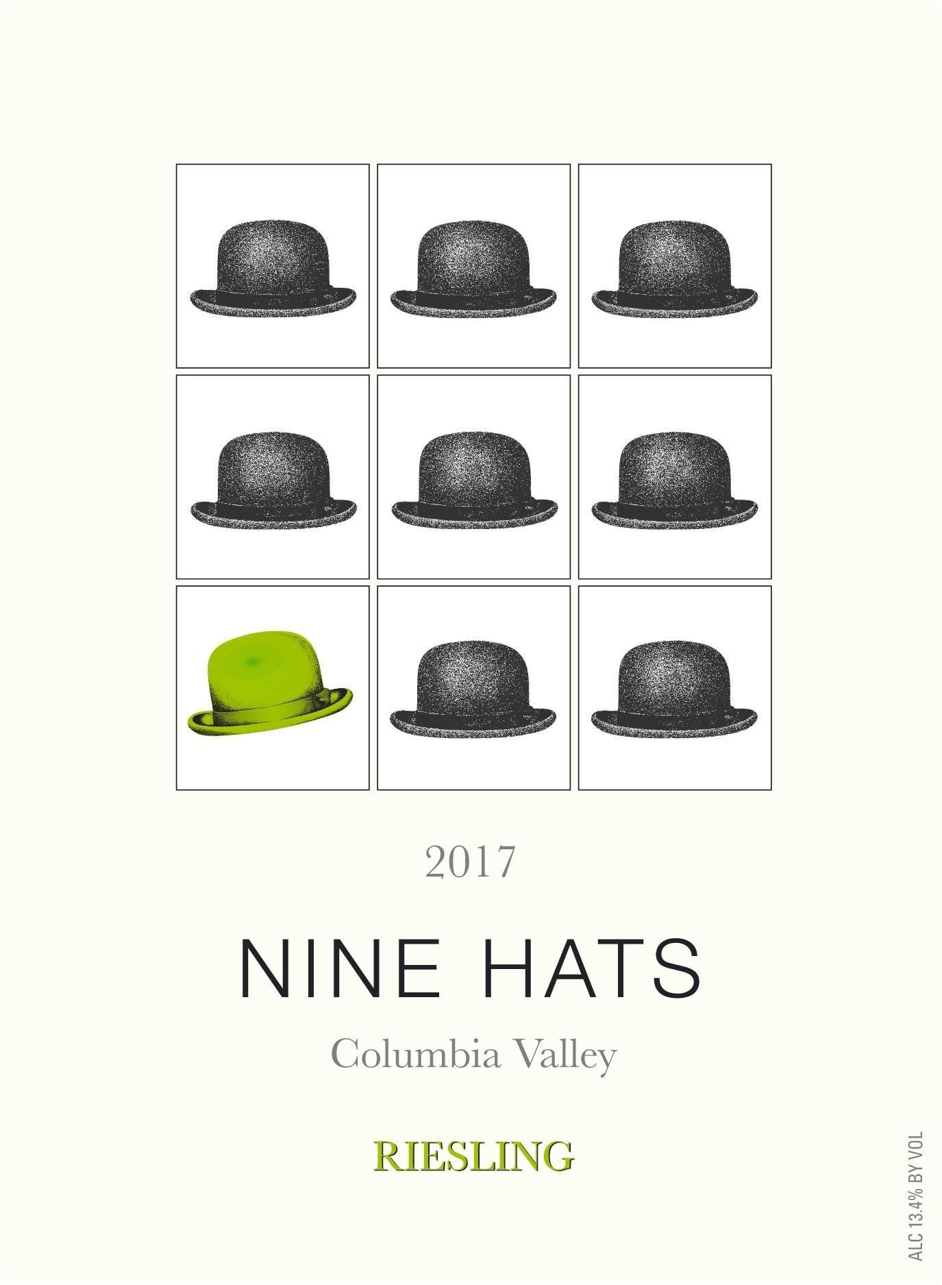 Nine Hats Riesling 2017  Front Label