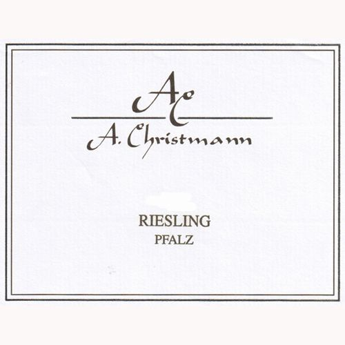 A. Christmann Riesling 2014  Front Label
