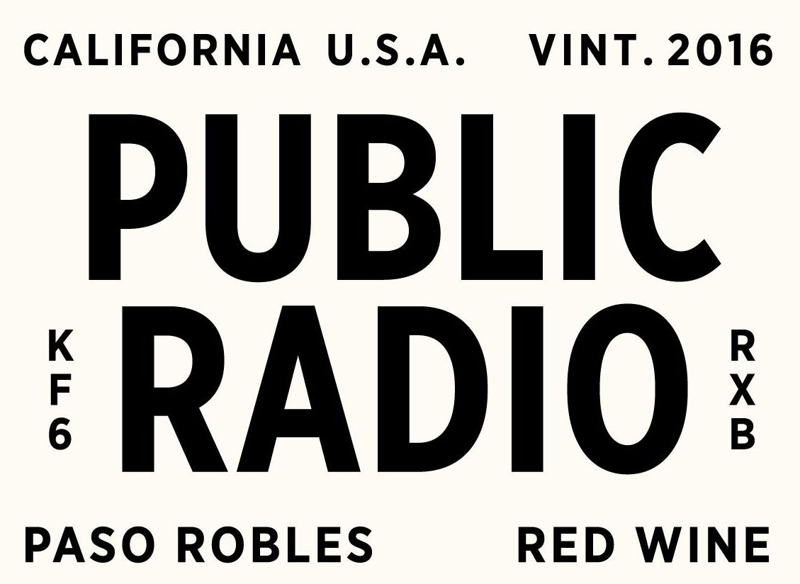 Grounded Wine Co. Public Radio Paso Robles Red 2016 Front Label