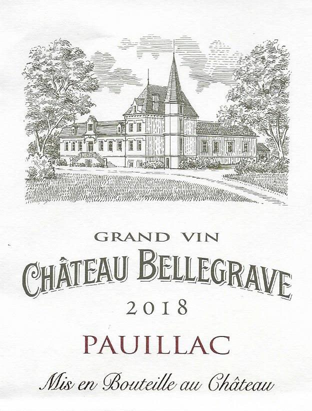 Chateau Bellegrave  2018  Front Label