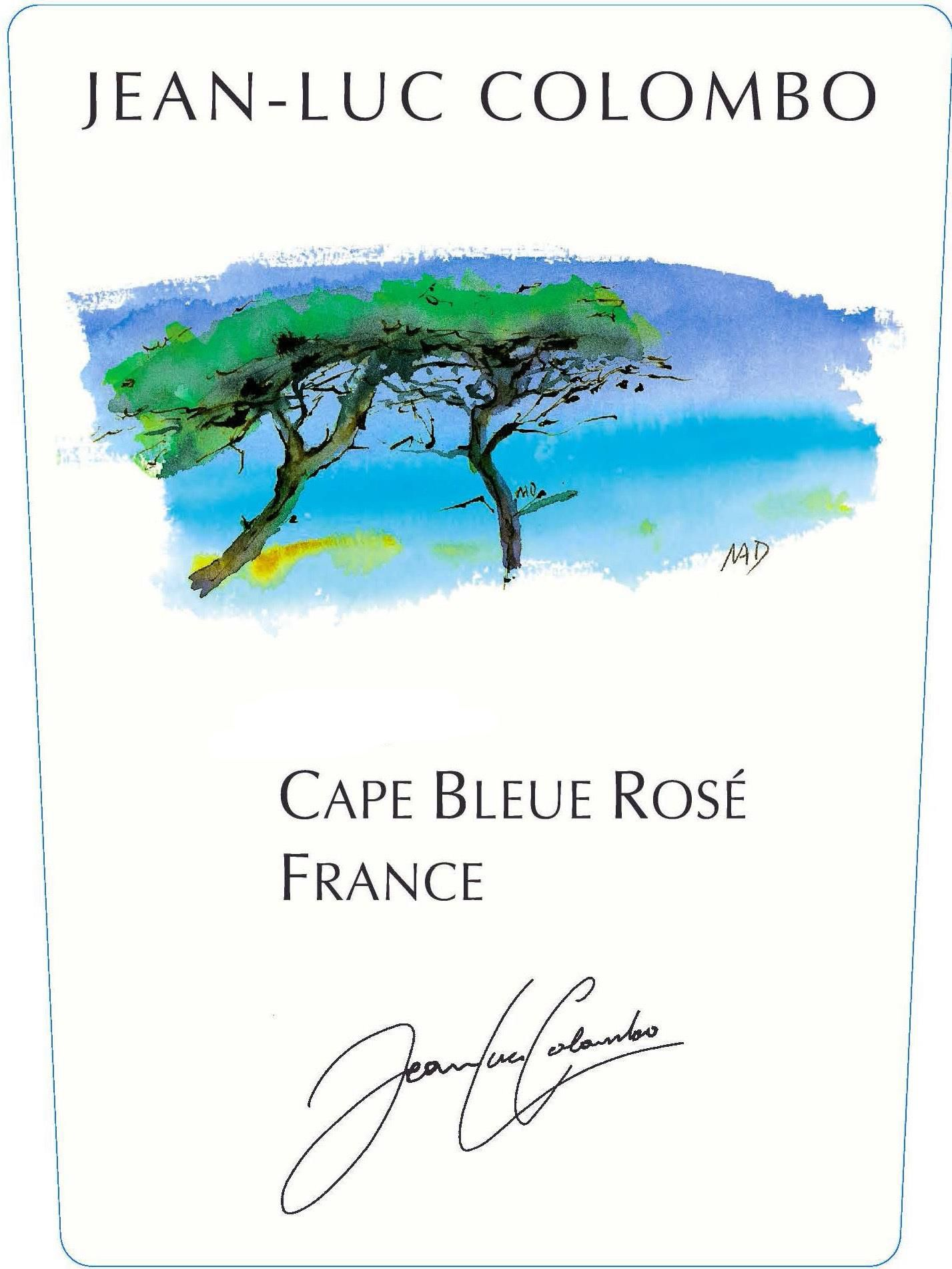 Jean-Luc Colombo Cape Bleue Rose 2020  Front Label