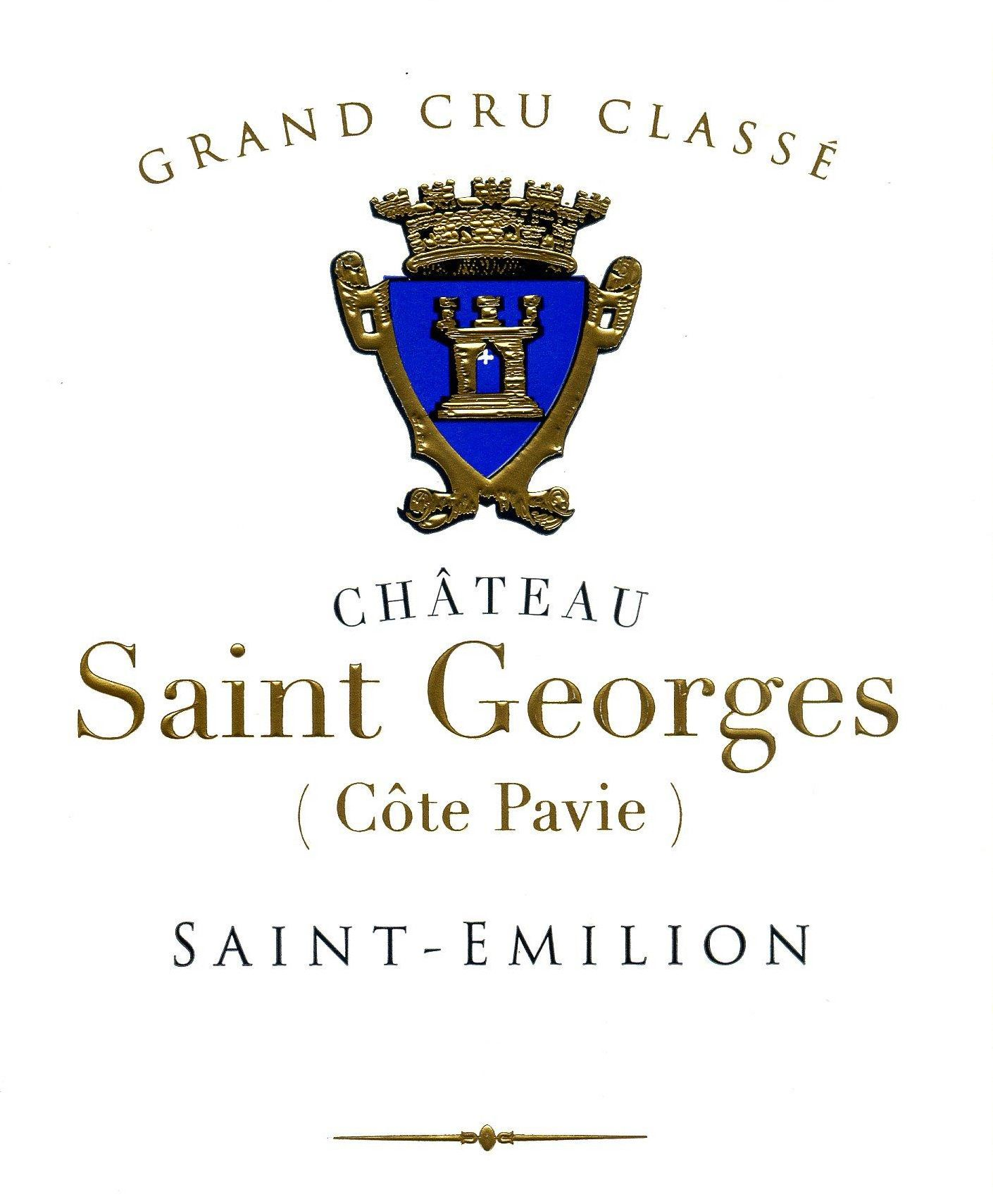 Chateau Saint-Georges Cote Pavie (Futures Pre-Sale) 2018  Front Label