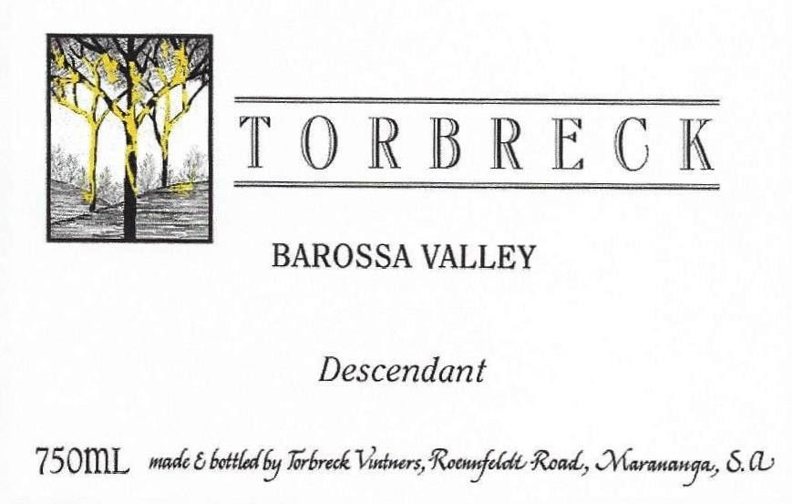 Torbreck Descendant Shiraz 2015 Front Label