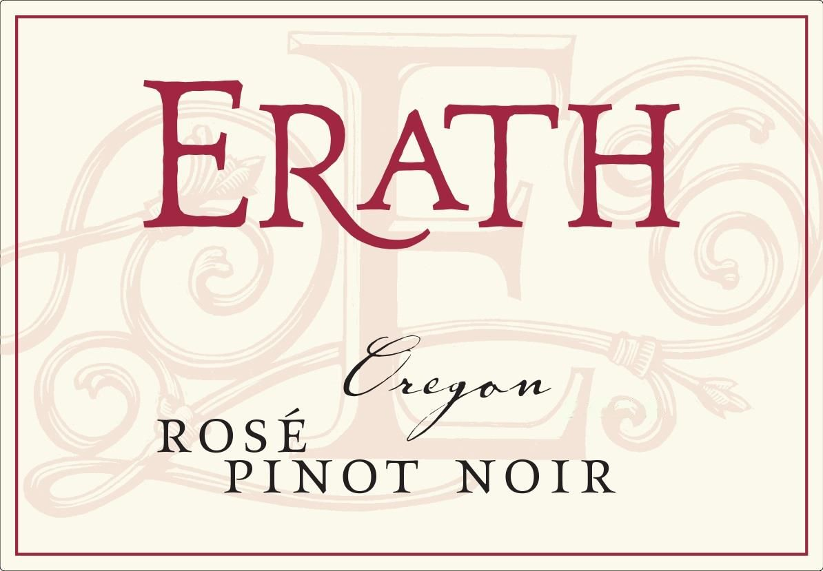 Erath Rose of Pinot Noir 2018 Front Label