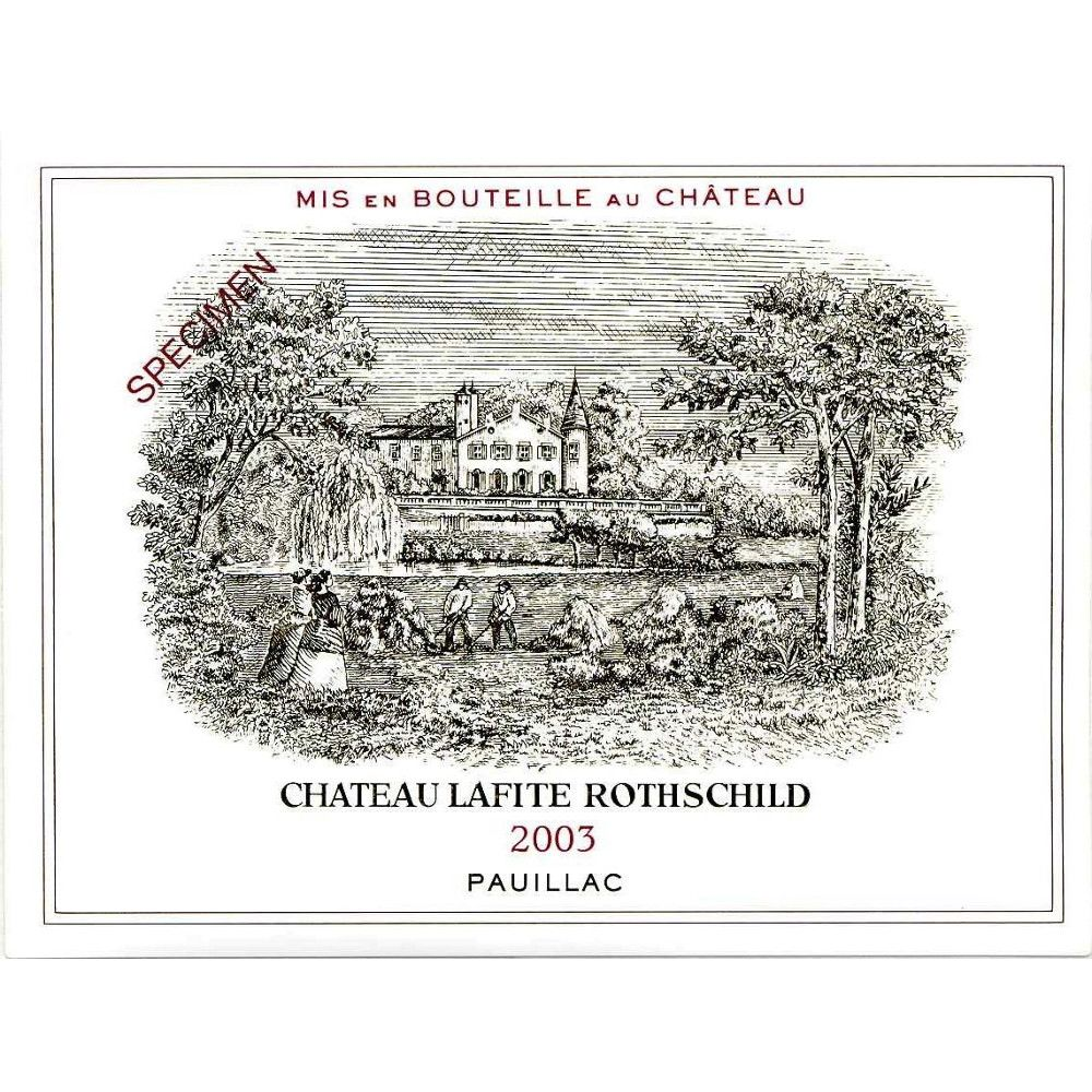 Chateau Lafite Rothschild (3 Liter Bottle) 2003  Front Label