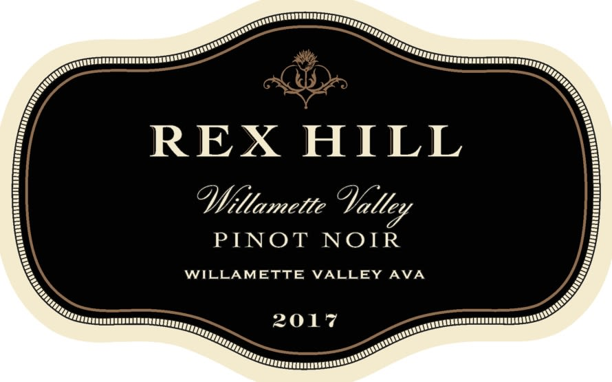 Rex Hill Willamette Valley Pinot Noir 2017  Front Label