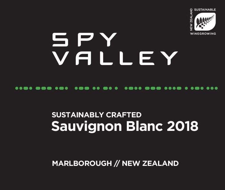Spy Valley Sauvignon Blanc 2018  Front Label