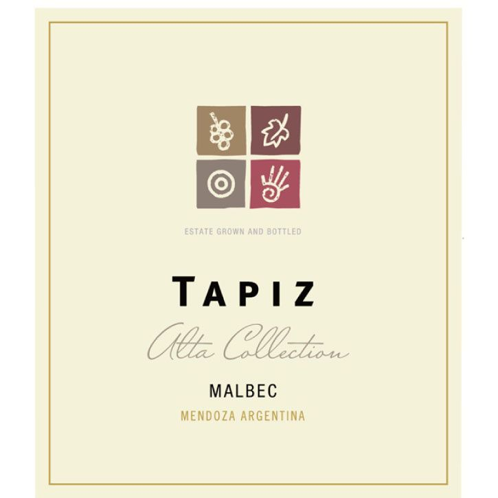 Tapiz Alta Collection Malbec 2017  Front Label