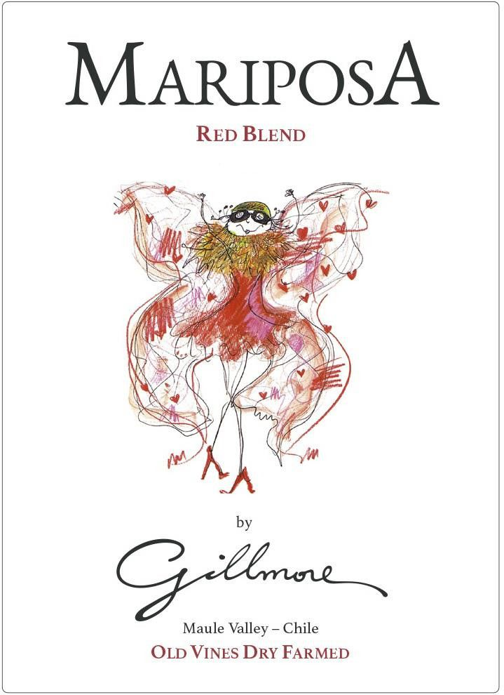 Gillmore Mariposa 2016 Front Label