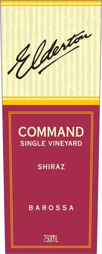 Elderton Command Shiraz 2013 Front Label