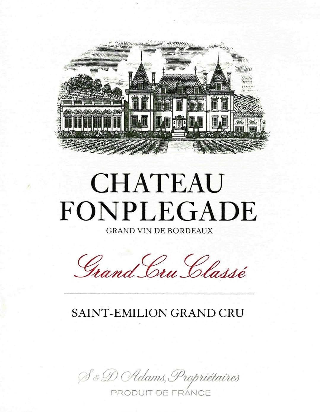 Chateau Fonplegade (Futures Pre-Sale) 2019  Front Label