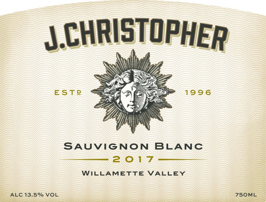 J. Christopher Willamette Valley Sauvignon Blanc 2017 Front Label