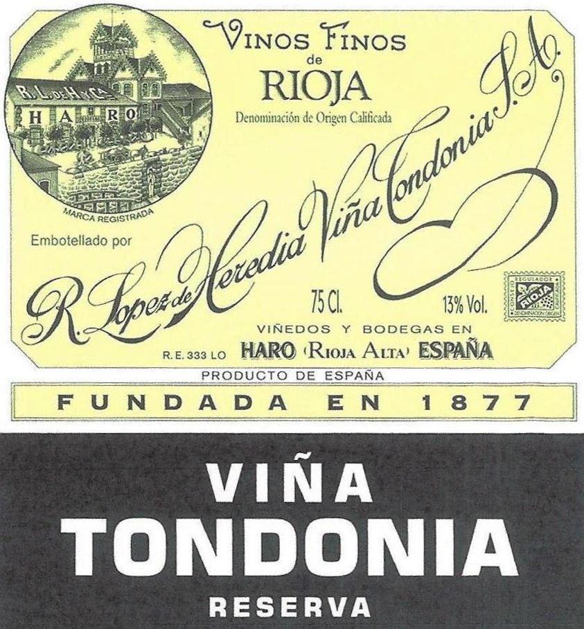 R. Lopez de Heredia Rioja Vina Tondonia Reserva (375ML half-bottle) 2007  Front Label